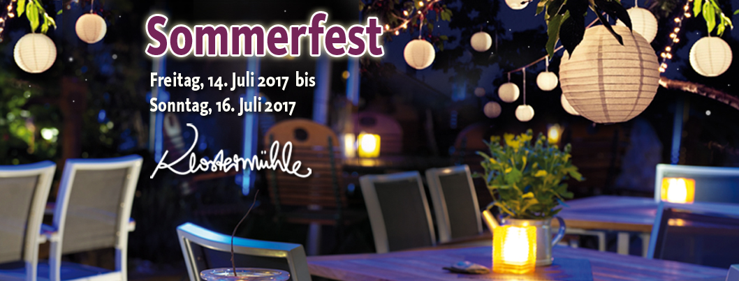 Sommerfest Klostermühle
