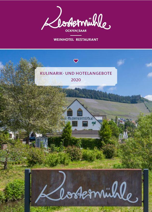Frontseite Kulinarik- und Hotelangebot